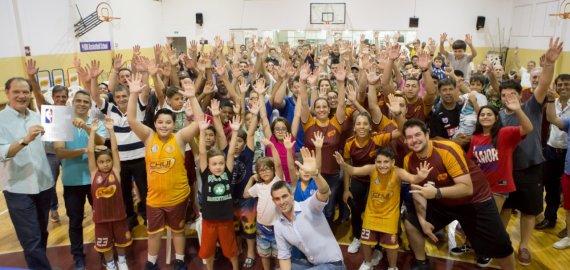 Lançamento do programa NBA Basketball School, na Escola Chuí Esportes
