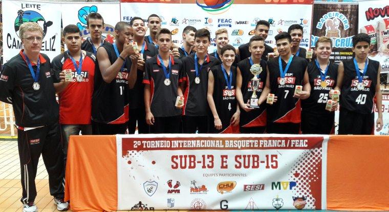 4068a5aa3d Equipes de Franca levam o título Sub-13 e Sub-15 do Torneio Internacional  de Basquete